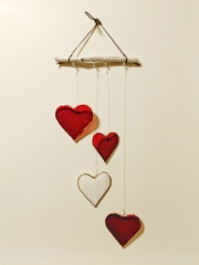 // glass and driftwood love mobile