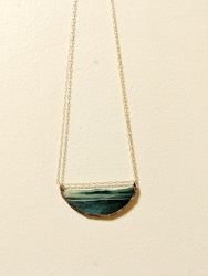 // natural edge necklace